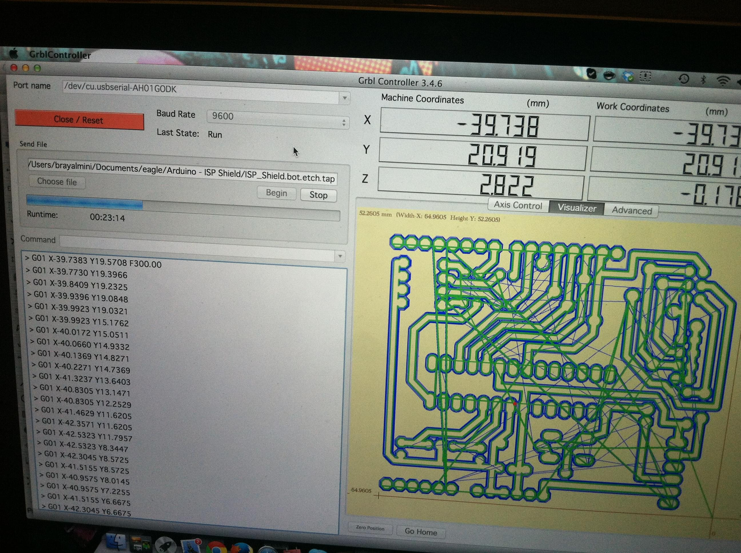 Grbl Cnc Usb To Tb6560 Interface Using Arduino Coreforge Wiring Diagram Attached Between My Completely Unmodified And A Ttl Adapter